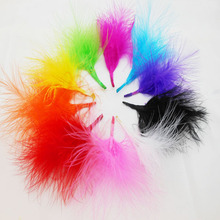 Cheap for Sale 24pcs DIY Dyed Fluffy Turkey Feather Colorful Wedding Decorations Elegant Party Clothes Feathers IF35