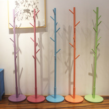 (color multicolor ) 9 hook  Modern Solid Wood Living Room Coat Rack Display Stands Scarves Hats Bags Clothes Shelf