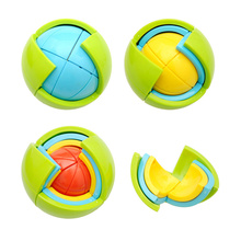 3D Puzzle Ball Children Intellectual Development Magic Bauble Kids DIY Fun Game Maze Toys Brain Teaser Wisdom Game Educations
