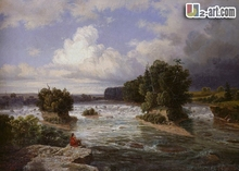 Canvas Prints ( st Anthony Falls as It Appeared in 1848) Gift wall canvas prints art picture chinese oil painting Classical-069(China)