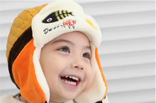 Hot sales Toddlers Cool Baby Boy Girl Kids Infant Winter Pilot Warm Cap Hat(China)