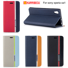 Buy Karribeca flip wallet leather case sony xperia xa1 coque etui colorful tone cover sony xa1 hoesje husa kryt puzdra tok for $7.24 in AliExpress store