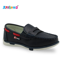 Apakowa children boat shoes boys classic gommini loafers kids moccasins shoes boys pu leather loafers casual shoes sneakers