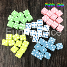 10PCS 12MM High Quality Dice  Solid  in 12mm square corners Plastic cube d6 Gambling Dice toy and gift
