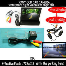 Wireless Color  SONY CCD Chip Car Chip Rear View Camera for Kia Optima 2010 2011 / KIA K5 + 4.3 Inch foldable LCD TFT Monitor