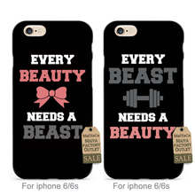 MaiYaCa soft black tpu silicone Beast Needs a Beast and Beauty Needs a Beauty couple phone case For iPhone se 5s 6s 7 plus case