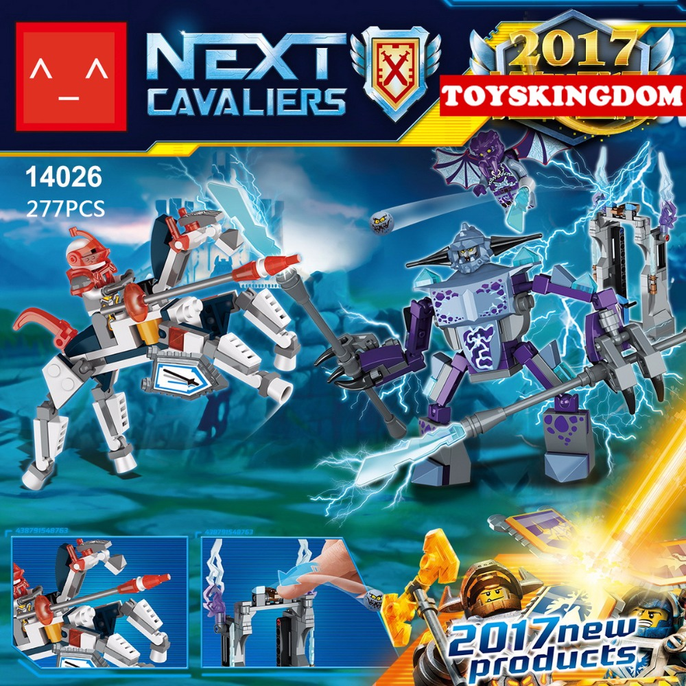 2017 New next cavalier nexus knights Lance Horse vs Flame devil building block Fire demon bricks lepins compatible lego70359 toy<br><br>Aliexpress