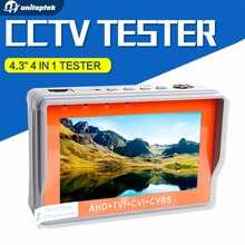 AHD CCTV Tester 4 in 1 for AHD TVI CVI CVBS Analog Camera Security Monitor 1080P with 4.3-inch LCD screen 5V 2A,12V 1A Surveilla