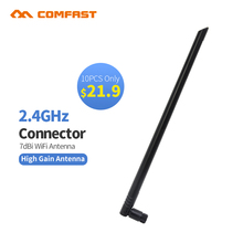 10pcs Comfast CF-ANT2407I 2.4 GHz 7dBi 802.11b/g WiFi Antenna Aerial RP-SMA Male Connector PCI Card USB Wireless Router Router(China)