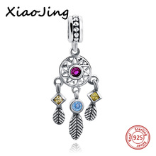 High quality genuine 925 Sterling Silver Charm with cz Pendant Beads Fit Authentic Pandora Bracelets diy beads Jewelry making(China)