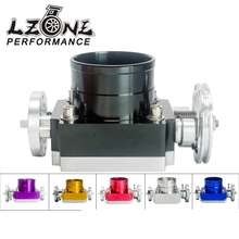 LZONE RACING- NEW THROTTLE BODY 70MM THROTTLE BODY PERFORMANCE INTAKE MANIFOLD BILLET ALUMINUM HIGH FLOW JR6970
