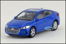 1:36 11.5cm new Welly HYUNDAI Elantra car alloy vehicle model pull back collection boy birthday toy