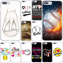 Fire Yellow Softball baseball And Water Hard Clear Skin Phone Case for Apple for iPhone 7 7 Plus 6 6S Plus 5 5S SE 5C 4 4S Cover