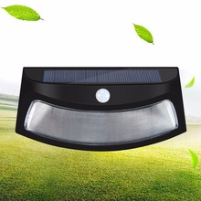 LumiParty 8 LED Solar Power Smiling Wall Light Motion Sensor Wireless Security Weatherproof Night Lamp For Outdoor Lighting(China)