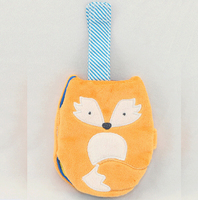 Infant Early Education Owl Mini Cloth Book  with Sound Paper Book  Baby Rattle Toys
