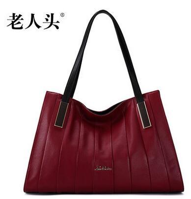 2016 new LAORENTOU famous brands genuine leather women bag quality Head layer cowhide fashion black women handbag Shoulder Bags<br><br>Aliexpress