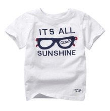 2017 NEW children t shirts 100% cotton kid's summer wear spring wear baby & kids band top and tees cartoon character print,(China)