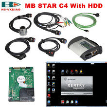 2017 07Software obd2 Scanner MB STAR C4 For Mercedes Benz C4 Multiplexer with 2017 07 Software HDD obd car Diagnostic tool DHL