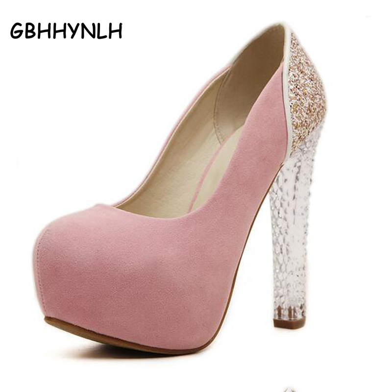 girls dress pumps pink shoes sexy high heels shoes crystal shoes pumps women heels female party ladies wedding shoes woman LJA35<br>