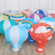 10pcs 12inch Rainbow Paper Lantern Hot Air Balloon Sky Lanterns Home/Wedding/Birthday/Christmas Party Decoration Supplies(China)