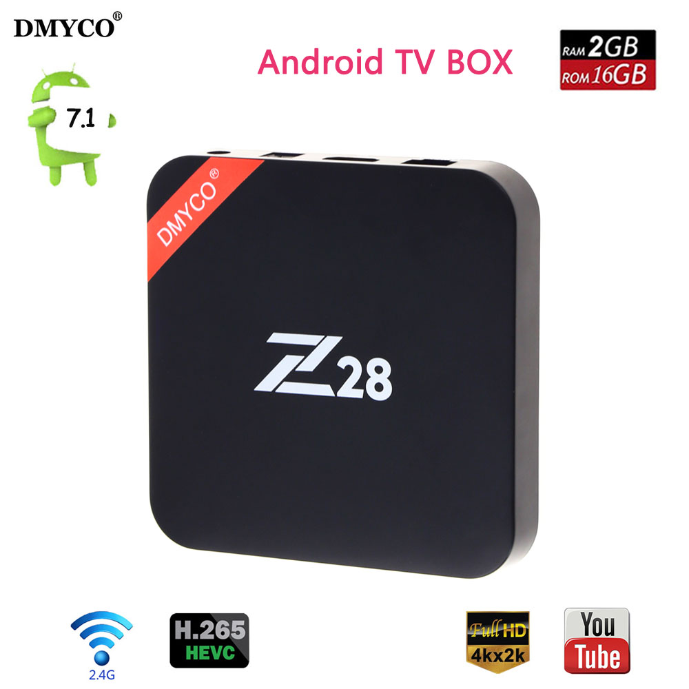 Android 7.1 Z28 TV Box Rockchip RK3328 Quad Core 2GB/16GB USB 3.0 2.4GHz WiFi 4K Smart Media player PK M8s Pro X92 Set Top Box
