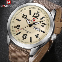 Men Quartz Watch NAVIFORCE Brand Fashion Sport Calender Watches Nylon Strap Wristwatch 2017 Gift Watch With Box 30M Waterproof