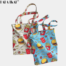 LALA IKAI Women Bag Canvas High Quality Food Series Shoulder Bags Korea Style Handbags 2017 New arrival Fashion BWA0847-4