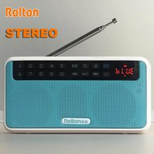 Rolton E500 HiFi Stereo Bluetooth Speaker Portable Super Bass Sound Box Column MP3 Music Player Computer Radio TF Card