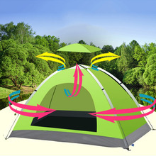 Waterproof Single Layer 2-3 Person Outdoor Build Camping Tent Hiking Beach Tent Tourist Bedroom Travel 2017 barraca tenda(China)