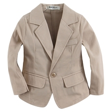 new arrival woven cotton 100%  toddler BOY blazer BB151202G C solid  Light Khaki