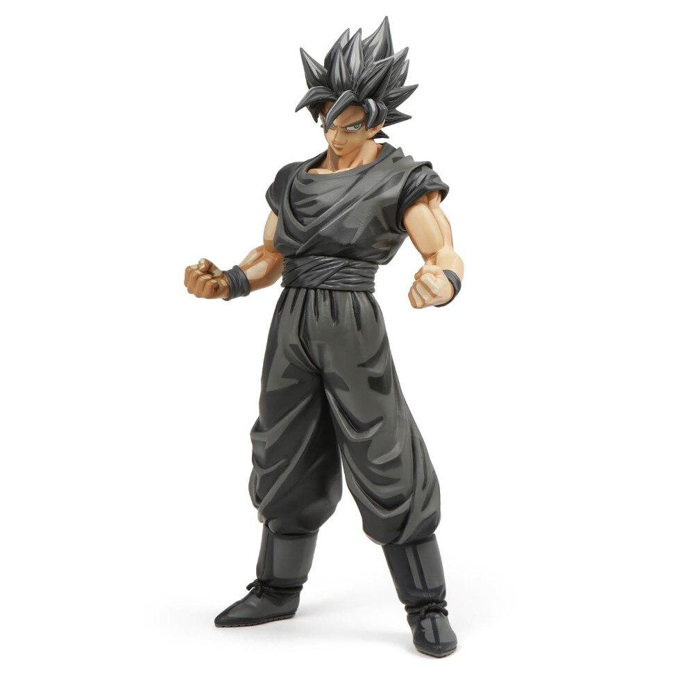 NEW hot 29cm dragon ball Super Saiyan black Son Goku 30th Action figure toys doll collection Christmas gift no box<br>