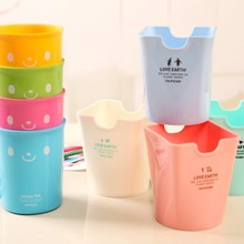 1 Pcs Cute Kawaii Plastic Candy Color Desk Office Supplies Accessories Pencil Pen Holder Cup Organizer Kids Stationery
