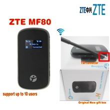 unlocked ZTE MF80 mifi 42mbps mobile hotspot router 3g wifi router plus antenna(China)