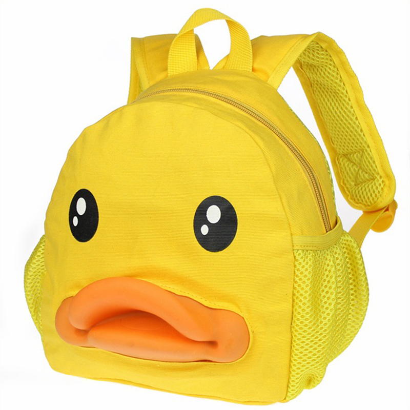 Cute duck Cartoon character canvas  backpacks for teenage girls boys children school bags for teenagers book bag for teen girls<br><br>Aliexpress