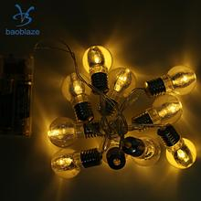 Baoblaze New Flowers/Bulb Shape/Football String Light Party Strip Lamp 10-LED Decor for Gardens Walls Fences Trees Applications(China)