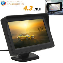 4.3 Inch Color TFT LCD HD Digital Panel Auto Car Rearview Monitor Backup Parking Vehicle Rear View Monitor Support 2 Video Input