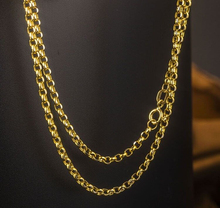 60cm L Pure Solid  Yellow Gold Chain Necklace/ Cable Chain Necklace/ 5.35g
