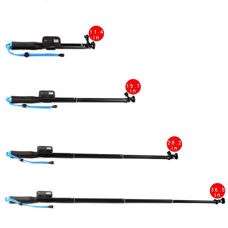 GoPro Remote Control Kit+GoPro Remote Telescopic Pole GoPro Aluminum Extendable Monopod For GoPro Hero4 3+ 3 Session Accessories