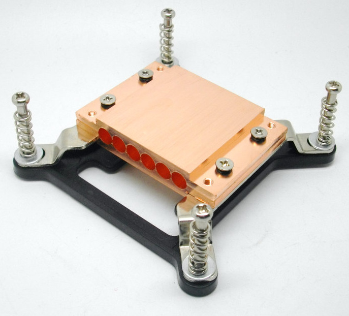 For 1366  buckle/2011 buckle Pure Copper Heat Pipe Clamp Copper Block Wear 6 Root Diameter 6mm Copper Tube<br>
