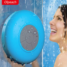 Olpeach 2017 Promotion Real Mp3 Waterproof Bluetooth Speaker Sucker Bathroom Handsfree Box Free Shipping And High Quality Gift(China)