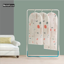 Fashion Pattern Suit Coat Dust Cover Clothes Dustproof Bag Dust Cover Household Wardrobe Clothing Storage Bag Organizer Washable