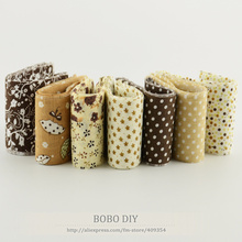 Dropship new arrivals 7pcs/ lot 100%cotton jelly roll coffee sets quilting fabric trips handmade patchwork sewing 5cmx100cm(China)