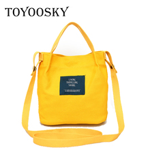 TOYOOSKY 2017 Women Beach Canvas Bag Fashion Candy Colors Handbags Ladies Large Shoulder Bag Totes Casual Bolsa Shopping Bags