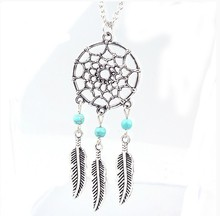 Trendy Bohemian Style Dreamcatcher Feather Wings Shaped Pendant Necklace 4 Styles Sweater Chain Accessories Best Gift N551