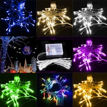 2M 20 LEDs Portable Festival Decorative Light AA Battery Powered String Fairy Lights Christmas Lights