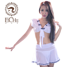 Buy Leechee Q704 Women sexy lingerie Cosplay uniform perspective Voile Patchwork Erotic underwear porn costumes erotic lingerie