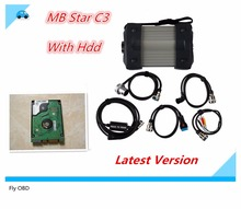 Newest 2015.07 Top Rated For Mercedes Tester MB Star C3 mb star c3 full set with HDD installed well (DAS +Xentry + WIS + EPC+Sd)