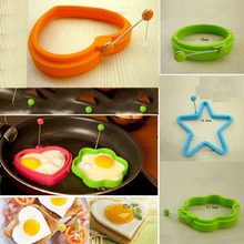 Silicone Fried Egg Pancake Rings Round Flower Mould Shaper Frying Pan Oven Kitchen Free Shipping
