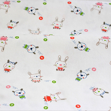 160x50cm1pc 100% Organic Cotton Knitted Fabric Cotton Jersey Fabric Kitty Cat Printed Fabric Sewing Material DIY Baby Clothing