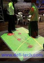 interactive floor projection with 130 interactive effects for advertising,Brand a template with your corporate logo